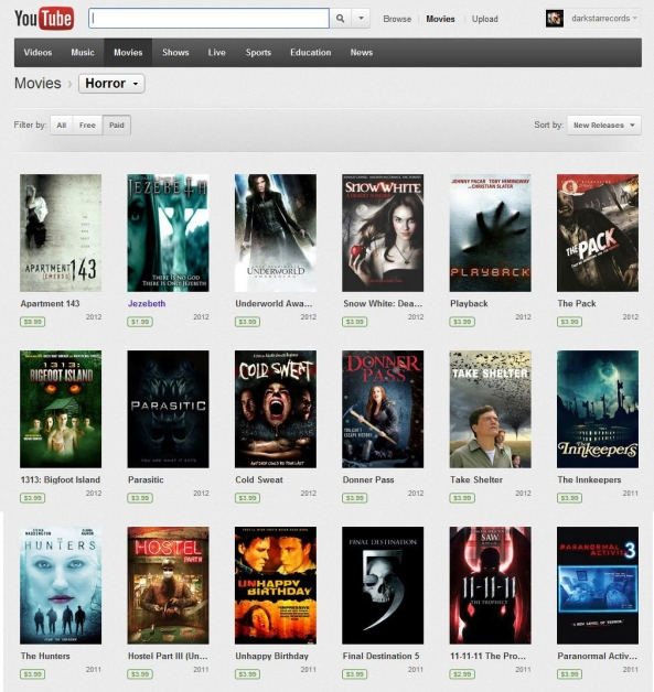 Google Rent: Jezebeth Featured On YouTube Rentals And Google Play