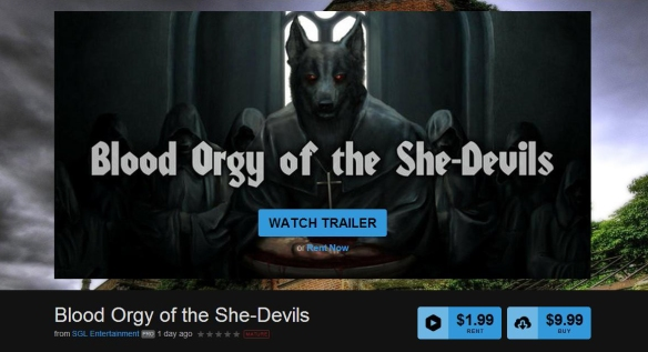 Blood Orgy of the She-Devils | SGL Entertainment Releasing