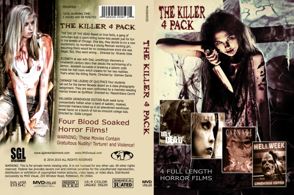The Killer 4 Pack DVD Box Art