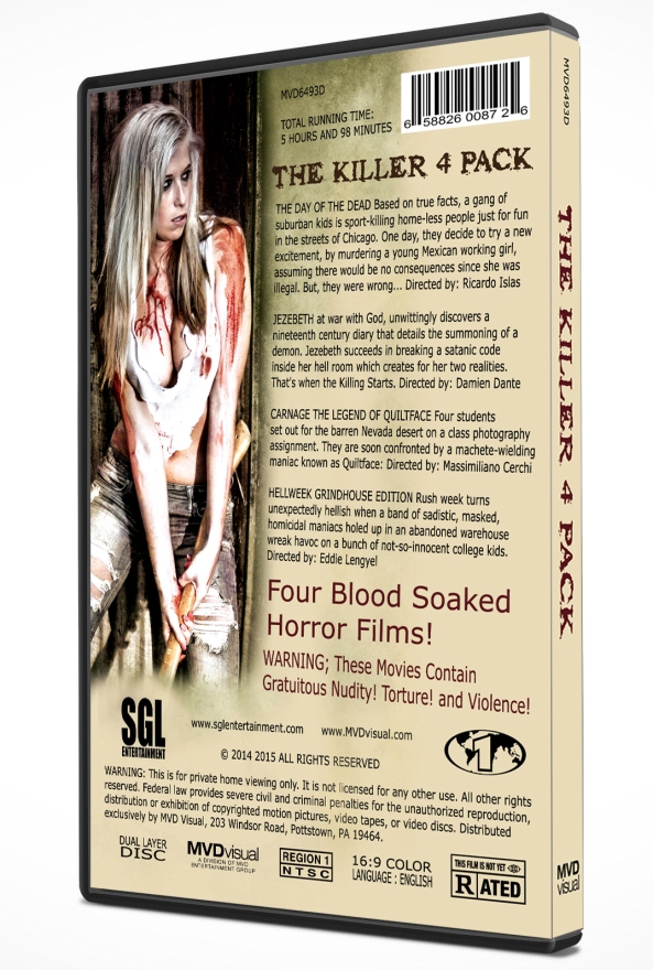 The Killer 4 Pack DVD Back